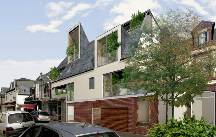 Immeuble lucarnes houlgate for Self garage caen