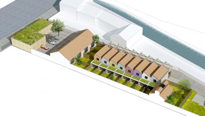 Logements sociaux  Montargis + villas de standing : Vue_aerienne_Nord_01