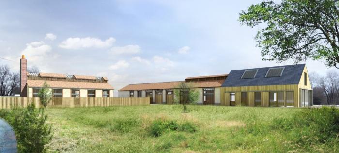 Logements sociaux  Montargis + villas de standing : Vue_Piéton_Sud_1