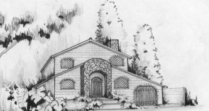 Villa CHAVEZ : Vue prévue sur le Projet
