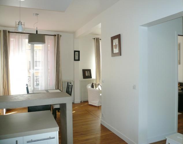 Restructuration et surélévation d'une maison de ville : 6-12-2010-CALLA-vue salon depuis cuisine.jpg