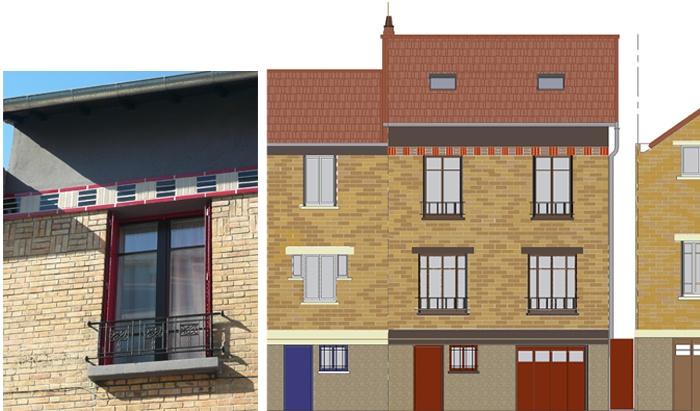 Restructuration et surélévation d'une maison de ville : 9-12-2010-CALLA-façade.jpg
