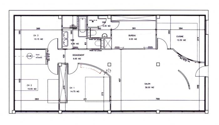 Aménagement d'un appartement parisien : Plan d'aménagement