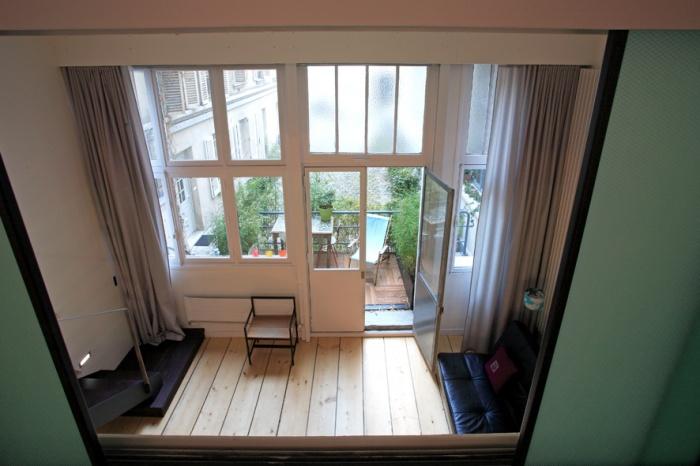 Loft parisien : terrasse