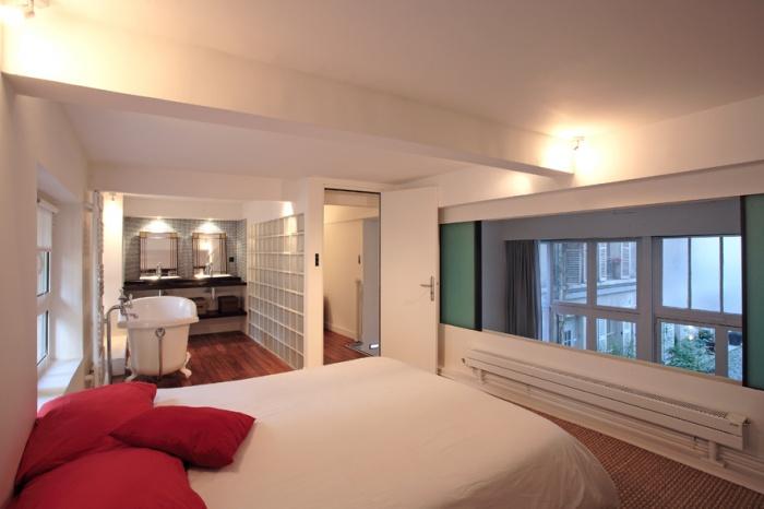Loft parisien : chambre