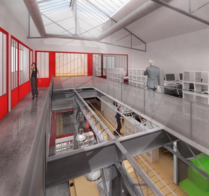 Boîte de production : les bureaux d'en haut