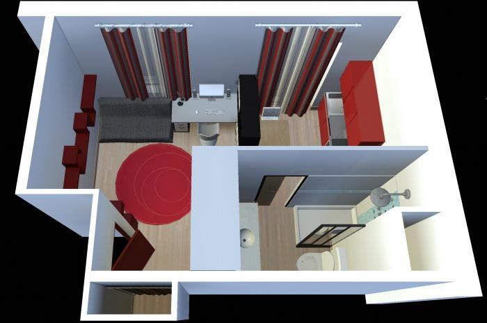 Aménagement intérieur d'un studio : appart_02