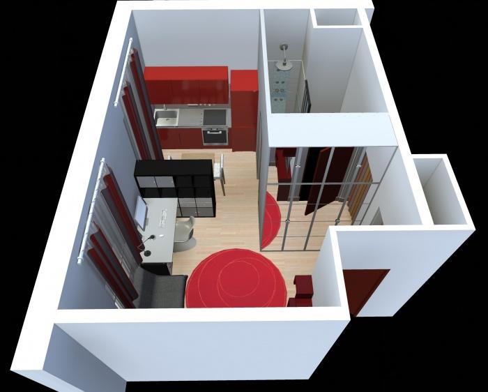 Aménagement intérieur d'un studio : appart_05