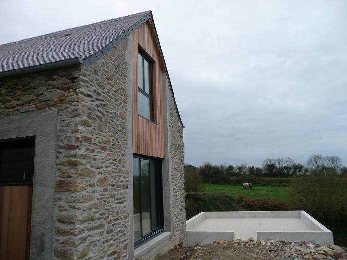 Transformation d'une grange en habitation : PROJET facade pignon