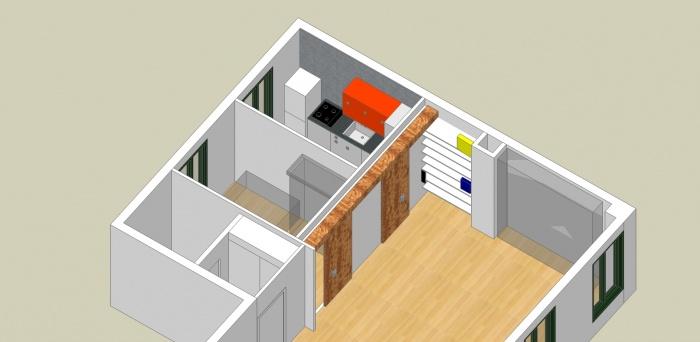 Esquisse d'une cuisine et aménagement du salon : P10.Sal.Projet 2011.03 axo salon CAL