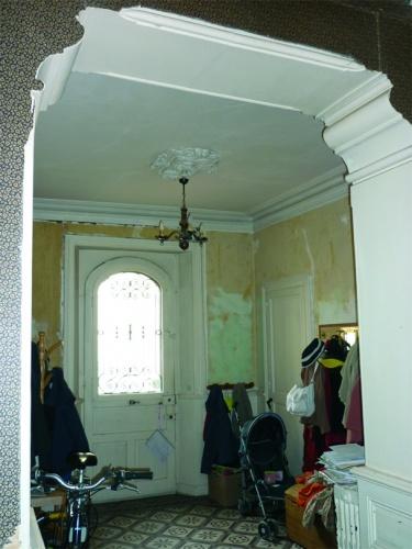 Réhabilitation d'une maison individuelle : Entrée avant