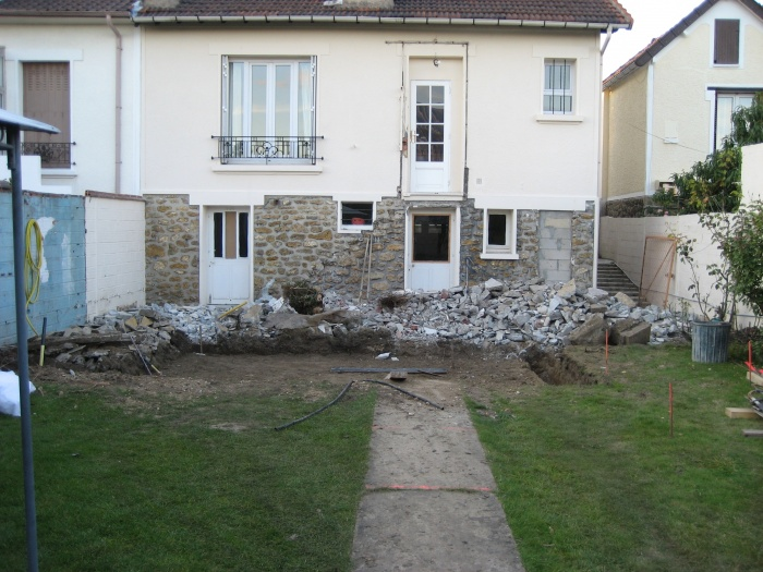 Maison de Mr et Mme André : façade arrière(avant extension)