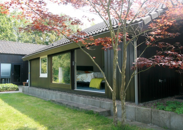 Rénovation d'un pavillon : façade arrière