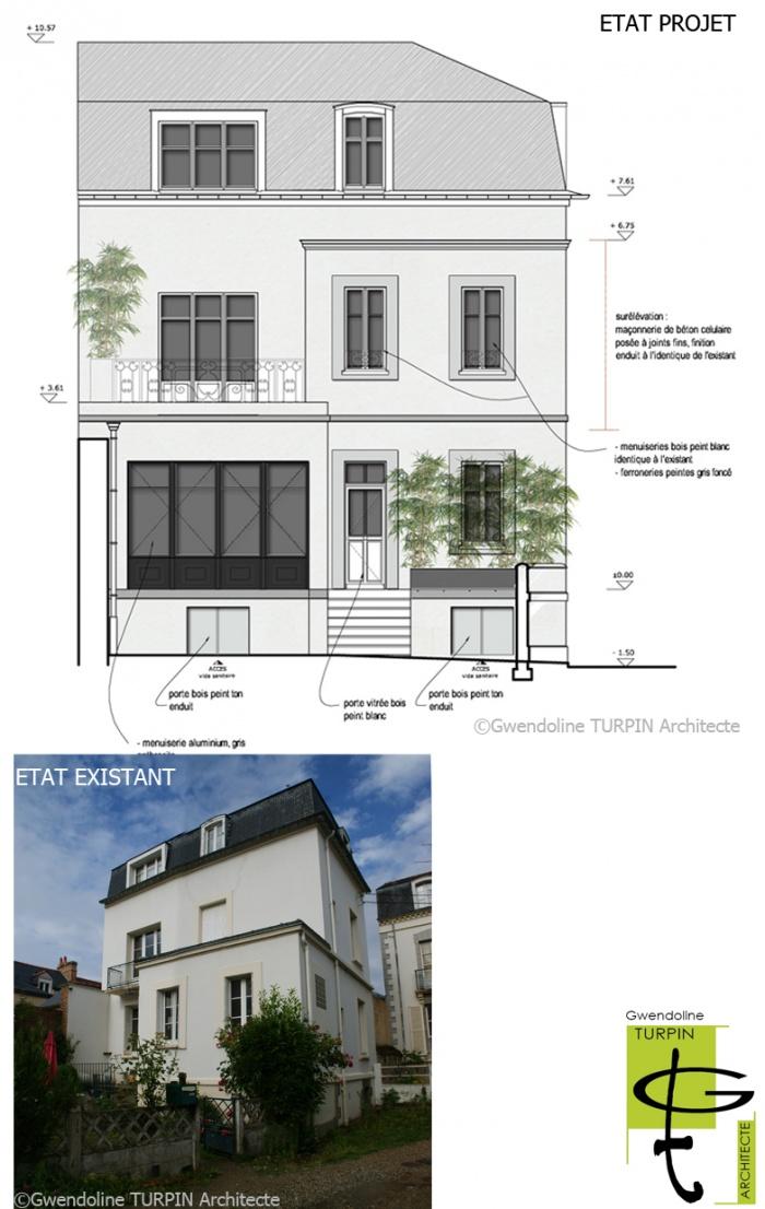 Extension et surélévation d'une maison individuelle : extension_RENNES_Demaimay-2