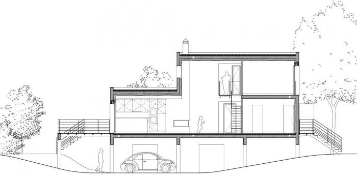 Maison sur le Pont (94) : Coupe