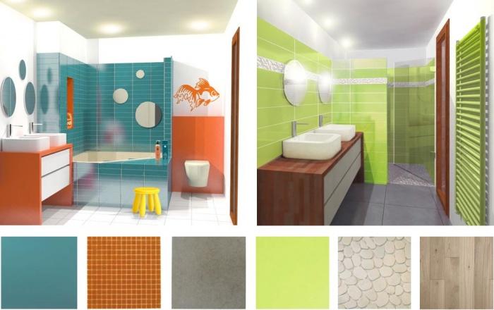 Maison sur le Pont (94) : Aménagements des salles de bain