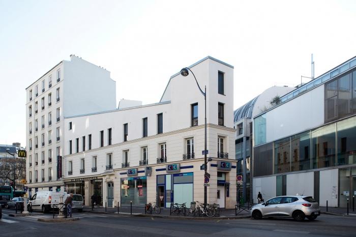 Restructuration et surélévation d'un immeuble de logements, Paris XXe : Gambetta_147 site.jpg