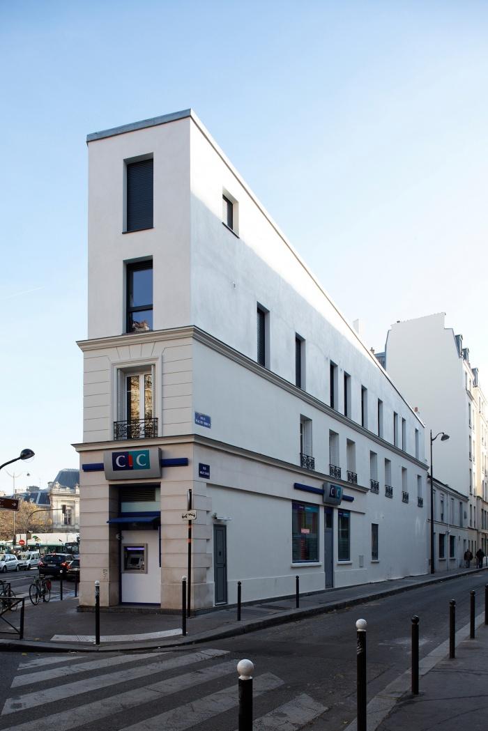 Restructuration et surélévation d'un immeuble de logements, Paris XXe : Gambetta_169 site.jpg