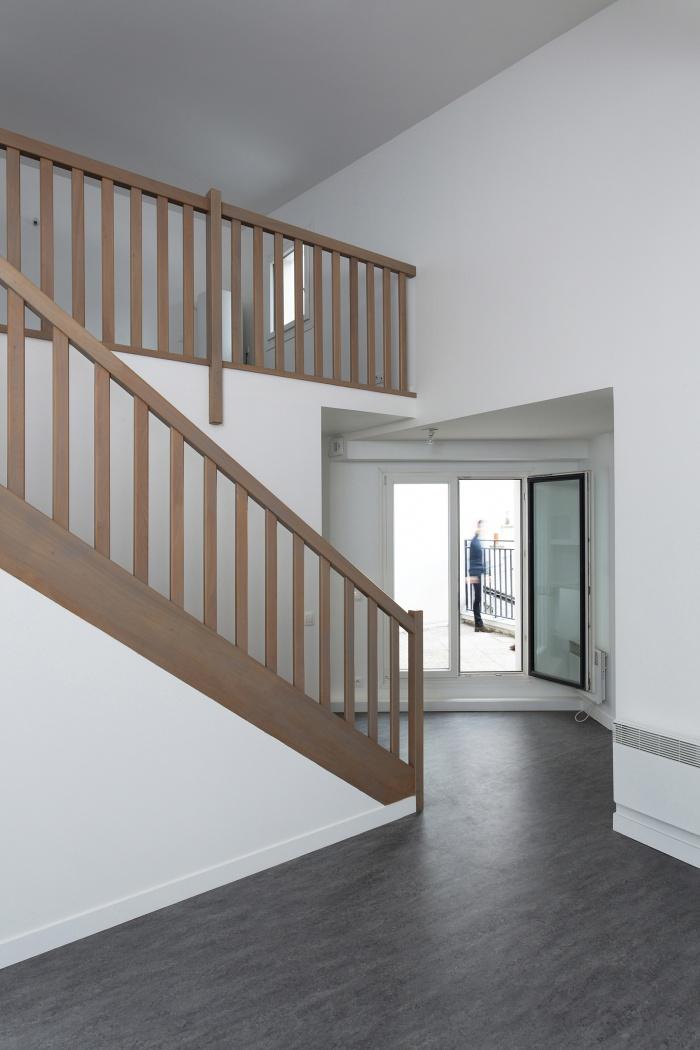 Restructuration et surélévation d'un immeuble de logements, Paris XXe : Gambetta_032 site.jpg