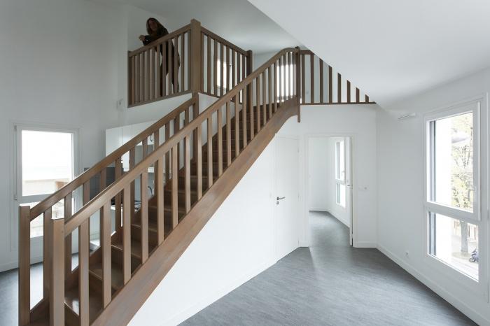 Restructuration et surélévation d'un immeuble de logements, Paris XXe : Gambetta_050 site.jpg