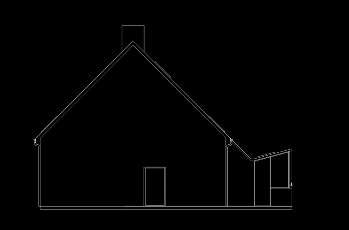 Extension d'une maison : Elevation