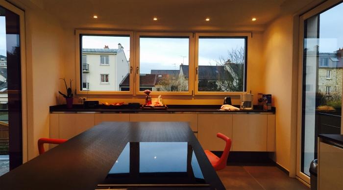 Extension - Projet R : 8- Extension cuisine 20m² moderne contemporaine original maison de ville architecte 2.2 vues rennes bruz cesson sevigné