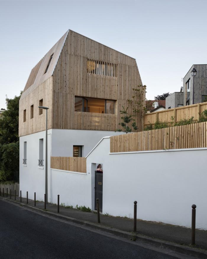 Extension en bois et restructuration d'une maison : 2b