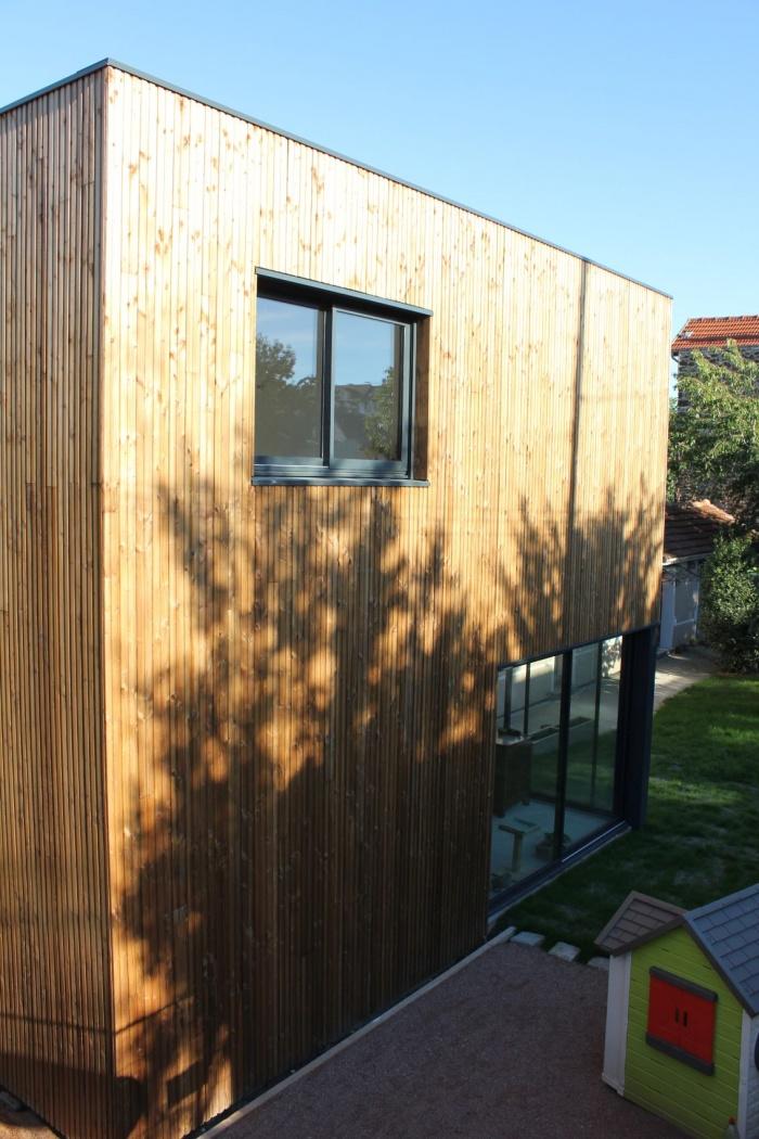 Rénovation et extension de maison, construction à ossature bois : 02_facade ouest.JPG